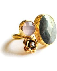 Toosis Pastel Colors Flower Ring - Lyst