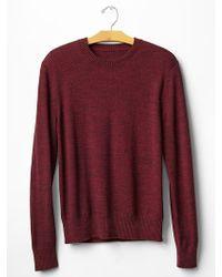 Gap Marled Crew Neck Sweater - Lyst