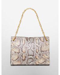 Calvin Klein Collection Python Medium Shoulder Bag With Chain Strap - Lyst