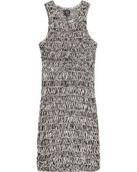 McQ by Alexander McQueen Knitted Cotton Dress - Lyst