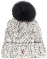 Moncler Grenoble Mink-fur Pompom Knitted Hat - Lyst