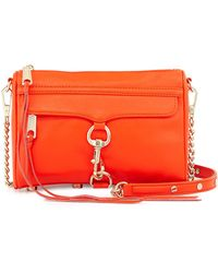 Rebecca Minkoff Mini Mac Leather Crossbody Bag - Lyst