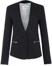 Day Birger Et Mikkelsen Black Classic Gabardine Zip Detail Blazer - Lyst