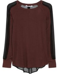 Elizabeth And James Sloane Meshpaneled Jersey Top - Lyst
