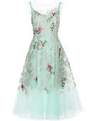 Oscar de la Renta Embellished Dress - Lyst