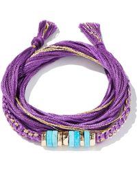 Aurelie Bidermann Takayamas Wrap Bracelet purple - Lyst