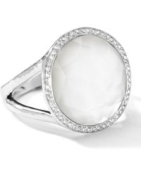 Ippolita - Stella Lollipop Ring In Mother-of-pearl Doublet With Diamonds - Lyst