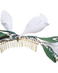 Francesco Ballestrazzi - White Cotton Magnolia Crown - Lyst