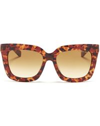 Michael Kors 'Polynesia' Contrast Shell Effect Acetate Sunglasses red - Lyst