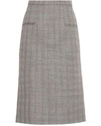 Alexander McQueen Prince Of Wales-Check Pencil Skirt - Lyst