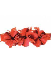Matthew Williamson Hibiscus Flower Embroidered Suede Belt - Lyst