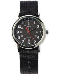 Timex® Weekender Slip Through Strap- Black Watch - Lyst