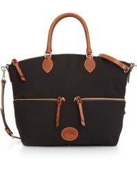 Dooney & Bourke Nylon Large Pocket Satchel - Lyst