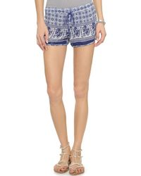 Raga - Floral Shorts - Navy - Lyst