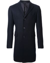 Tagliatore Single Breasted Coat - Lyst