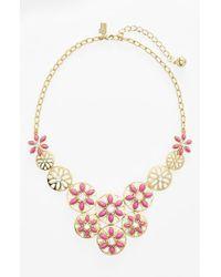 Kate Spade 'Eyelet Garden' Bib Necklace - Lyst