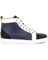 Christian Louboutin Rantus Woven-rope and Leather Trainers - Lyst