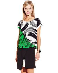 Vince Camuto Artful Strokes Blouse - Lyst