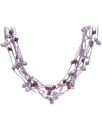 Kit Heath - Amethyst Lavender Pearl and Swarovski Crystal N - Lyst