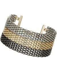 Topshop Mixed Mesh Chain Bracelet - Lyst