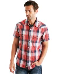 Lucky Brand Classic Fit Redstone Plaid Western Sport Shirt - Lyst
