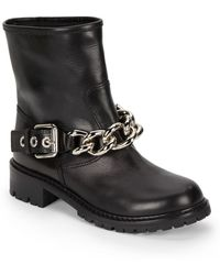 Giuseppe Zanotti Chain Strap Leather Ankle Boots - Lyst
