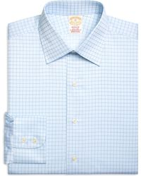 Brooks Brothers Milano Fit Twin Check Dress Shirt - Lyst