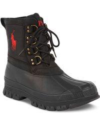 Polo Ralph Lauren Crestwick Lace-Up Boots black - Lyst