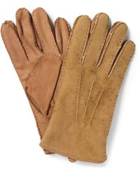 Polo Ralph Lauren Shearling and Leather Gloves - Lyst