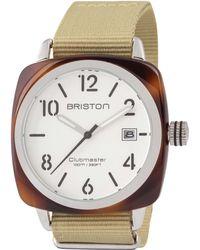 Briston - Khaki Acetate Clubmaster Hms Sunray Dial Watch - Lyst