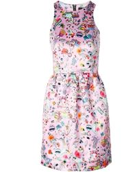Markus Lupfer Sticker Print Erica Dress - Lyst