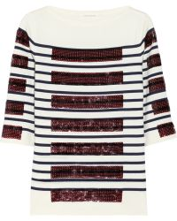 Marc Jacobs Sequin-embellished Cotton-blend Sweater - Lyst