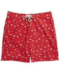 Brooks Brothers Red Fleece - Nautical Board Shorts - Lyst