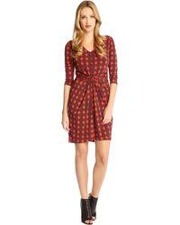 Karen Kane Tiffany Diamond-Print Dress - Lyst