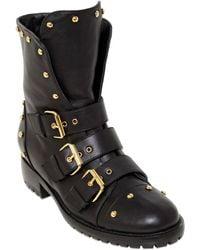 Giuseppe Zanotti 30Mm Studded Nappa Leather Boots - Lyst