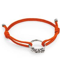 John Hardy Naga Sterling Silver Cord Bracelet/Red - Lyst