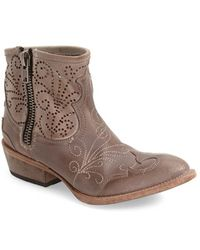 Baske California - Slinger Perforated Leather Western Boots - Lyst