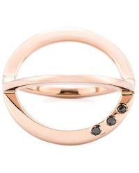 Kim Mee Hye - Fixed Twisted Black Diamond Ring - Lyst