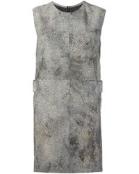 Mm6 By Maison Martin Margiela Straight Fit Dress - Lyst