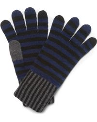 Paul Smith Striped Wool Gloves - Lyst