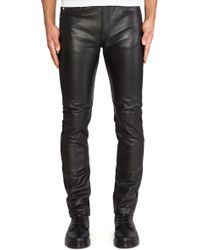 McQ by Alexander McQueen Leather Skinny Jeans - Lyst