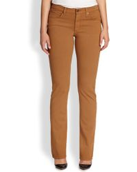 James Jeans Twill Straight-Leg Jeans brown - Lyst