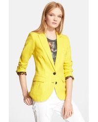 Smythe Women'S 'Boy' Linen Jacket - Lyst