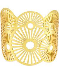 Ashiana | 22 Carat Goldplate Cuff Bracelet - For Women | Lyst