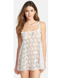 L'agent By Agent Provocateur 'Edita' French Lace Babydoll - Lyst