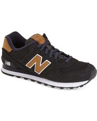 New Balance | black '574 - Lux Collection' Sneaker | Lyst