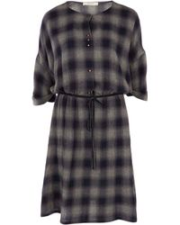 Sessun - Navy Ela Navega Faded Check Dress - Lyst