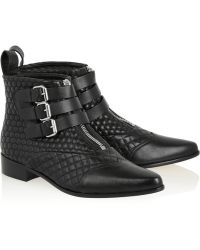 Tabitha Simmons Early Quilted Leather Ankle Boots - Lyst