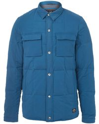 Penfield Blue Loring Shirt Style Down Jacket - Lyst