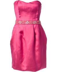 Emilio Pucci Strapless Cocktail Dress - Lyst